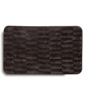 Faux Fur Accent Mat Brown