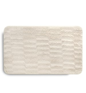 Faux Fur Accent Mat Cream