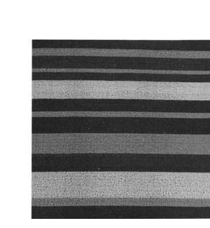Grey Stripe Vinyl Floor Mat Multi