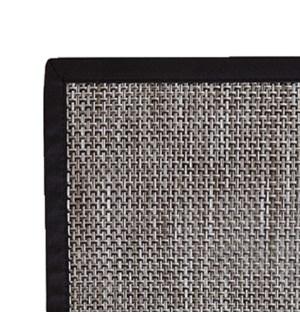 Basketweave Vinyl Floor Mat Titanium 60 x 84