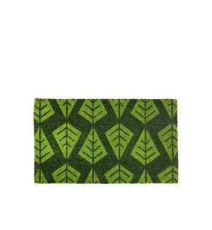 Linear Tree Coir Mat Green