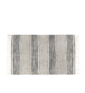 Lima Tasseled Floor Mat 27 X 45 Grey
