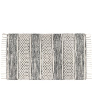 Lima Tasseled Floor Mat 48 X 72 Grey