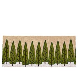 Trees Coir Mat - Long Green
