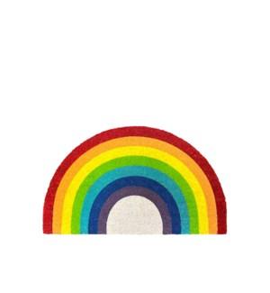 Rainbow Coir Mat - Shaped Multi