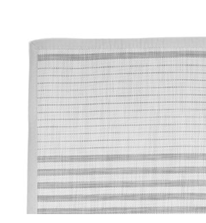 Linen Stripe Vinyl Floor Mat White