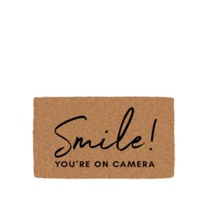 Smile! Coir Mat Black