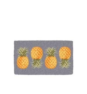 Pineapple Printed Coir Mat Aqua