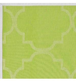 Panama Tile Vinyl Floor Mat Green 20 x 34