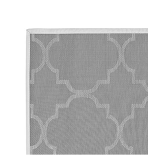 Panama Tile Vinyl Floor Mat Grey 30 x 50