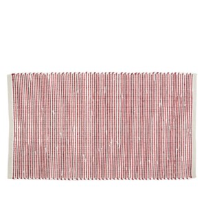Vista Woven Accent Rug Red