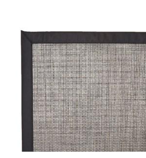 Tweed Vinyl Floor Mat Black 48 x 72