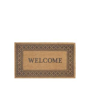 Welcome Printed Coir Mat Multi