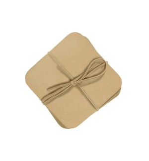 Studio Leather Coasters Set of 6 Champagne