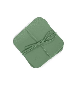Studio Leather Coasters Set of 6 Soft Teal