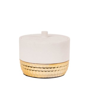 Zeus Cannister White/Gold