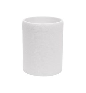 Linen Waste Bin White