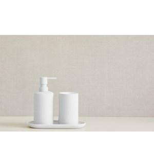 Silk Finish 3Pc Bathroom Set White
