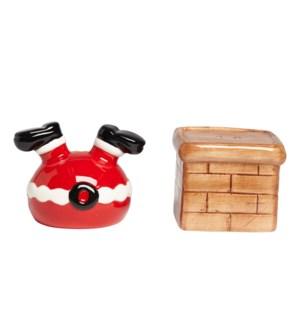 Stuck Santa Salt and Pepper Shaker Set Red