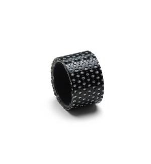 Diamond Napkin Ring Set Of 4 Black