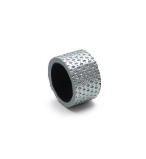 Diamond Napkin Ring Set Of 4 Silver