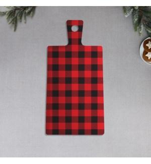 Buffalo Check Printed Ceramic Serving Board Black/Red