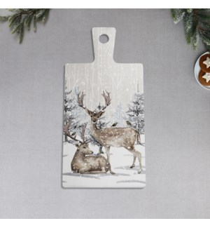 Reindeer In Forest Printed Ceramic Serving Board Multi