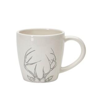 Antler Ceramic Mug Grey