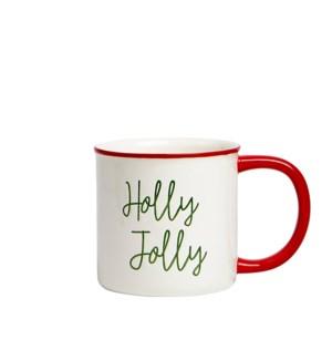 Holly Jolly Script Mug Multi