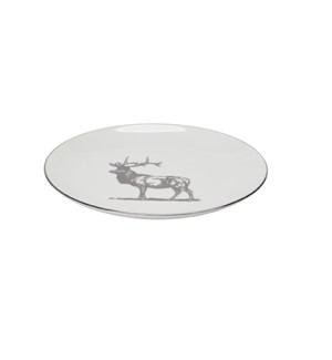 Toile Reindeer Dessert Plate Set Of 4 Silver