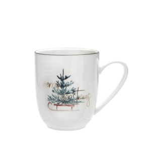 Merry Christmas Tree Coupe Mug Multi