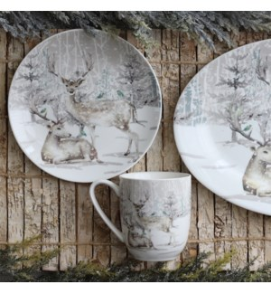 Reindeer In Forest Coupe Mug Multi