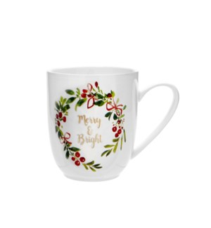 Merry and Bright Coupe Mug Multi