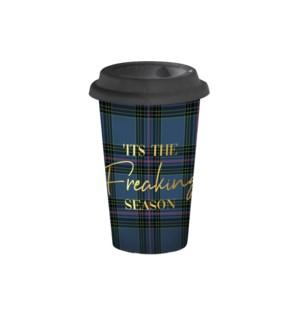 Tis The Season Travel Mug Blue