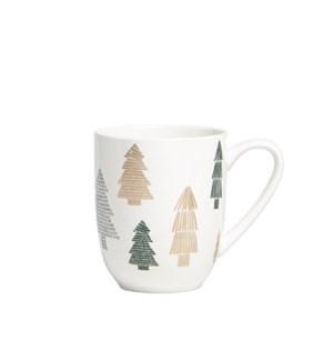 Tree Coupe Mug Green/Metallic