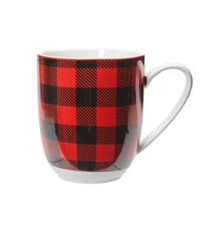 Buffalo Check Mug Red