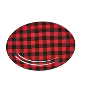 Buffalo Check Serving Platter Red/Black