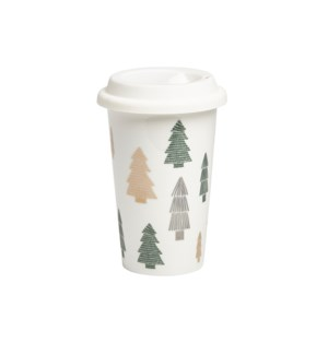 Tree Travel Mug Green