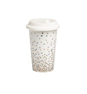 Confetti Travel Mug Metallic