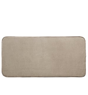 Luxe Plush Boot Shoe Drying Mat Taupe