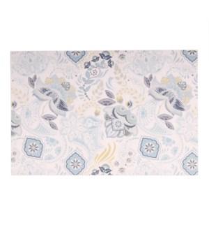 Bloom Printed Vinyl Placemat Blue