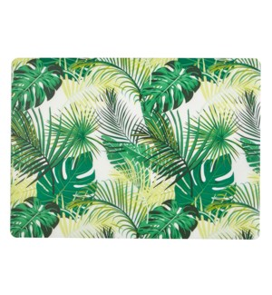 Palm Leaf Soft Touch Placemat Green