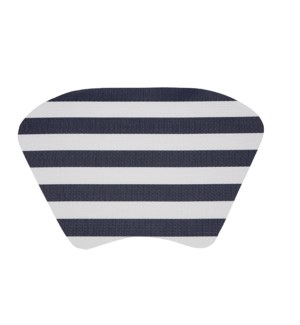 Cabana Stripe Wedge Vinyl Placemat Navy
