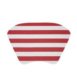Cabana Stripe Wedge Vinyl Placemat Red
