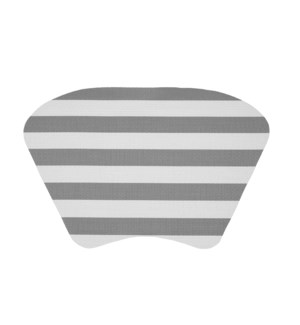 Cabana Stripe Wedge Vinyl Placemat Grey