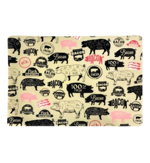 Hogtown Soft Touch Placemat Black