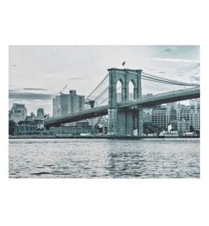 Brooklyn Bridge Printed Vinyl Placemat Grey
