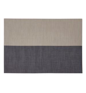 Divide Vinyl Placemat Linen/Navy