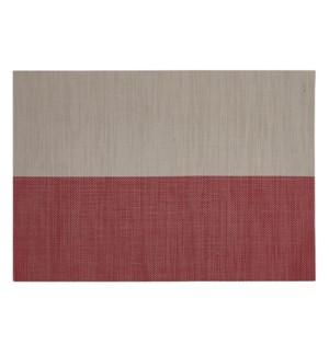 Divide Vinyl Placemat Linen/Red