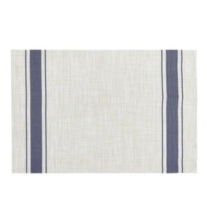 Bistro Stripe Vinyl Placemat Blue